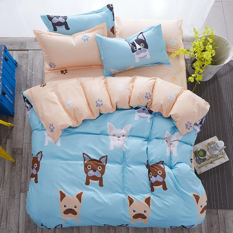 Frenchie World Shop Baby Blue French Bulldog Bedding Set