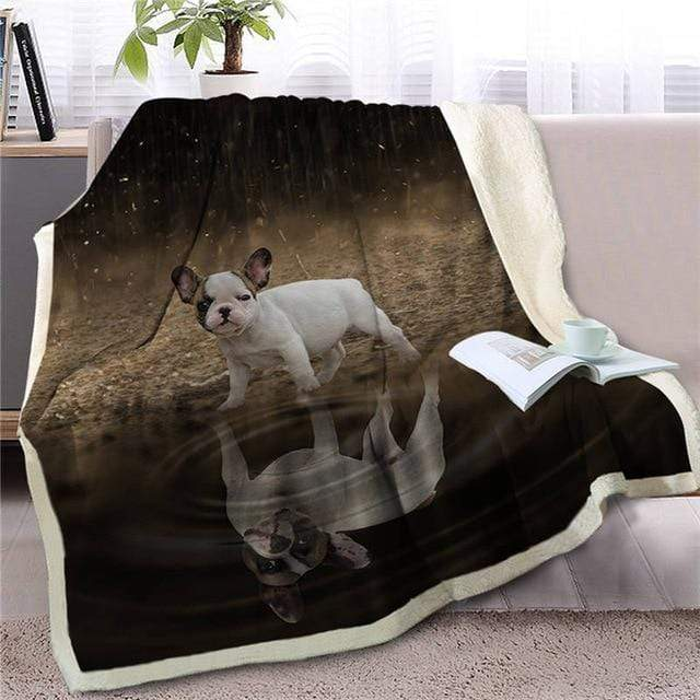 Frenchie World Shop Dog 7 / 150cmx200cm Baby French Bulldog Sherpa Blanket
