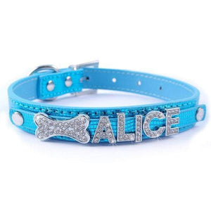 Frenchie World Shop Blue / S Bling Personalized French Bulldog Collar