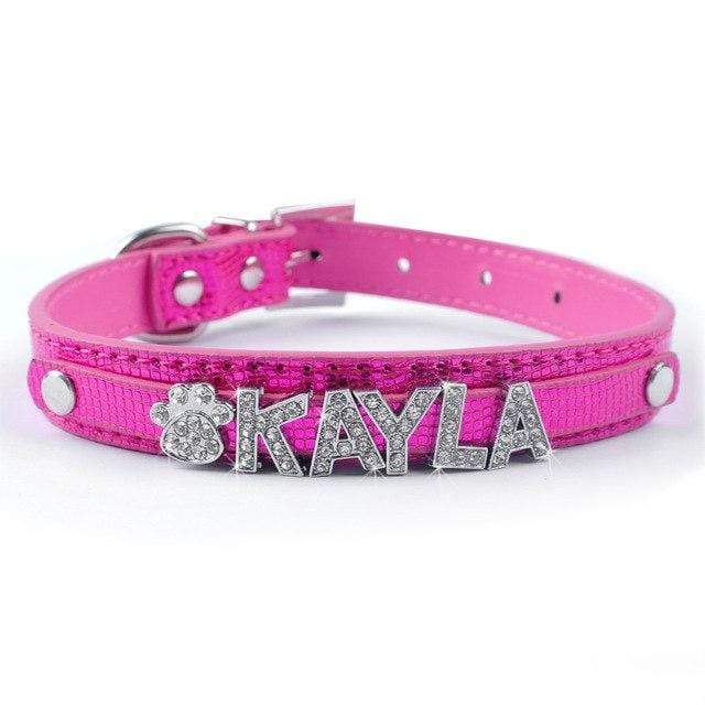 Frenchie World Shop Pink / S Bling Personalized French Bulldog Collar