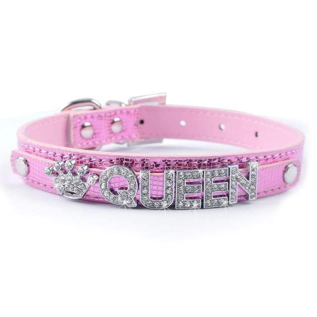 Frenchie World Shop Rose / S Bling Personalized French Bulldog Collar