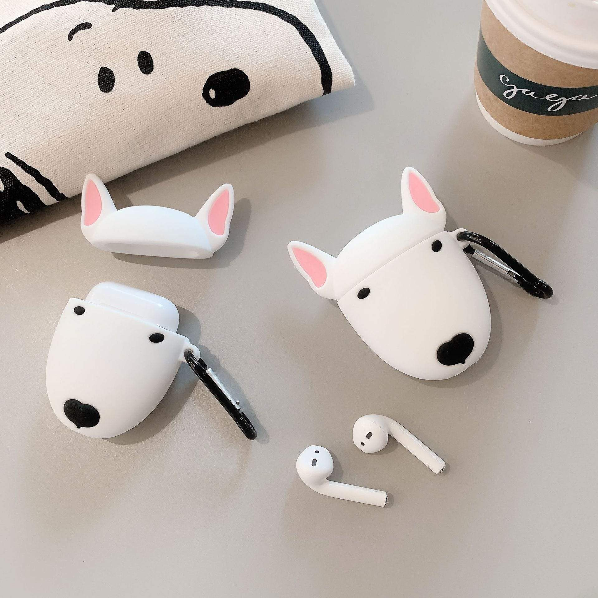 Frenchie World Shop Bull Terrier Silicone AirPods Case