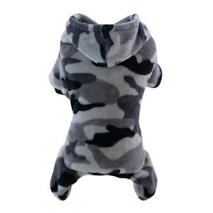 Frenchie World Shop Gray / L Camouflage Fleece Frenchie Hoodie