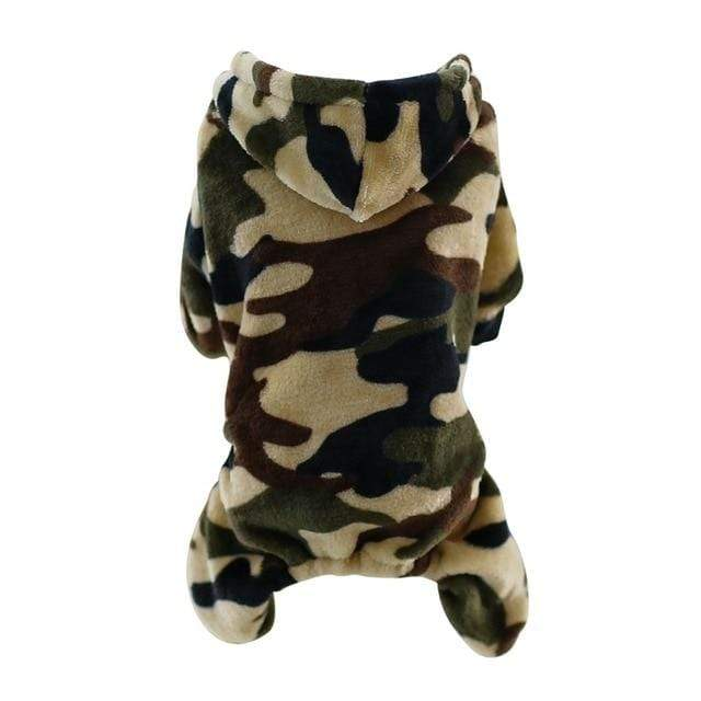Frenchie World Shop Green / L Camouflage Fleece Frenchie Hoodie