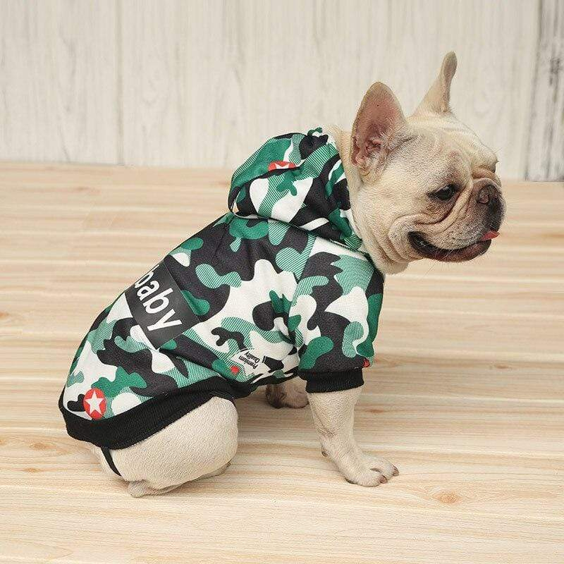 Frenchie World Shop Camouflage French Bulldog Hoodie