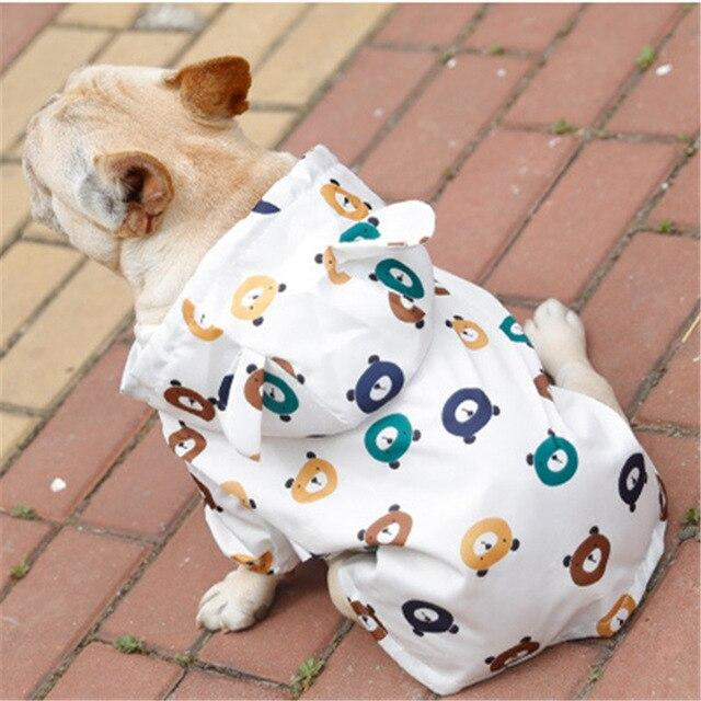 Frenchie World Shop WHITE / S Cartoon French Bulldog Raincoat