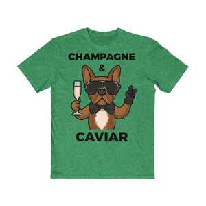Printify T-Shirt Heathered Kelly Green / XS Champagne & Caviar Men's Tee