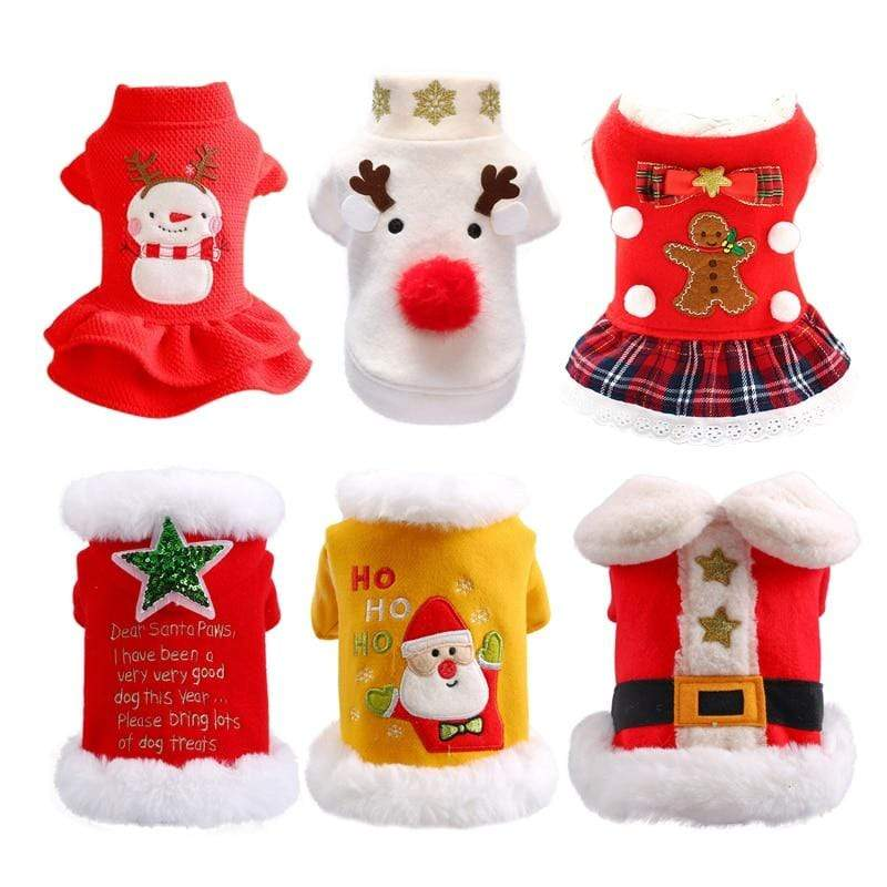 Frenchie World Shop Christmas Dog Clothes Couple Shirt Dress Costume Dog Cat Coat For Small Dogs Cats Yorkshire Terrier Pet Clothes Ropa Para Perro