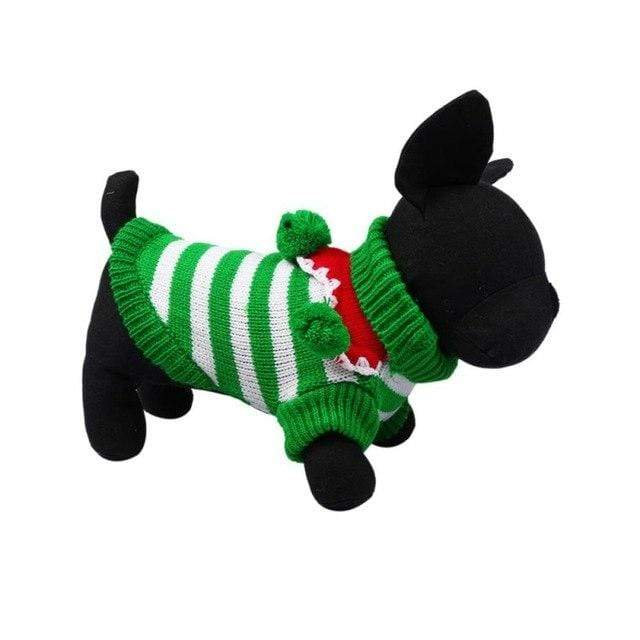 Frenchie World Shop GW / L Christmas Striped Sweater With Poms