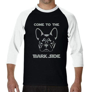 Frenchie World Shop Human clothing Come To The Bark Side long sleeve shirt