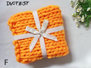 Frenchie World Shop F / 55x55CM Crochet Knitted Blanket