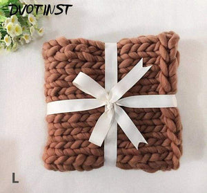 Frenchie World Shop L / 55x55CM Crochet Knitted Blanket