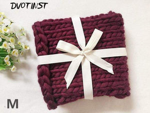 Frenchie World Shop M / 55x55CM Crochet Knitted Blanket