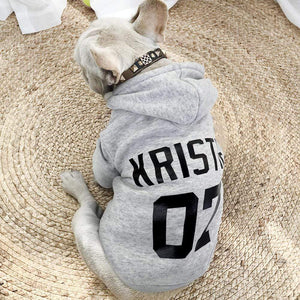Frenchie World Shop Light Grey / XS Custom French Bulldog Hoodie