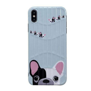 Frenchie World Shop for iphone 6 6s / imsdog Cute French Black White Bulldog Soft TPU Phone Case For iPhone X 8 7 6 6S Plus  XS Max XR Cases Cartoon Dogs  Cover Fundas Coque