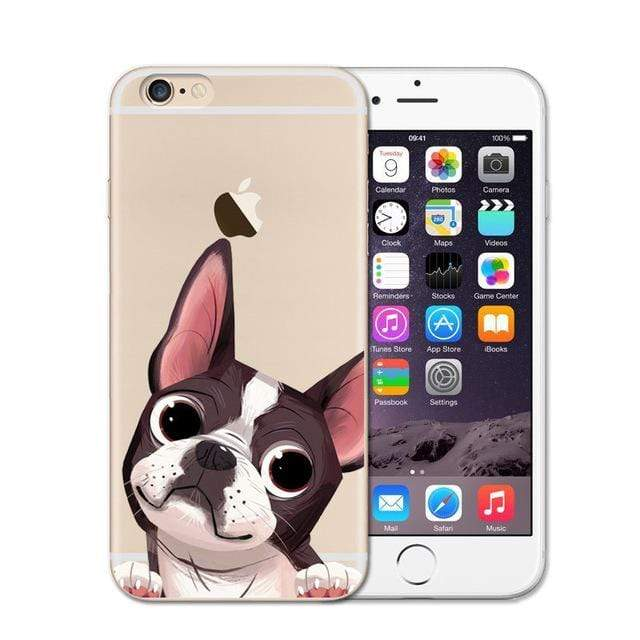 Frenchie World Shop 1 / For iPhone SE 5 5S Cute French Bulldog Soft Case For iPhone