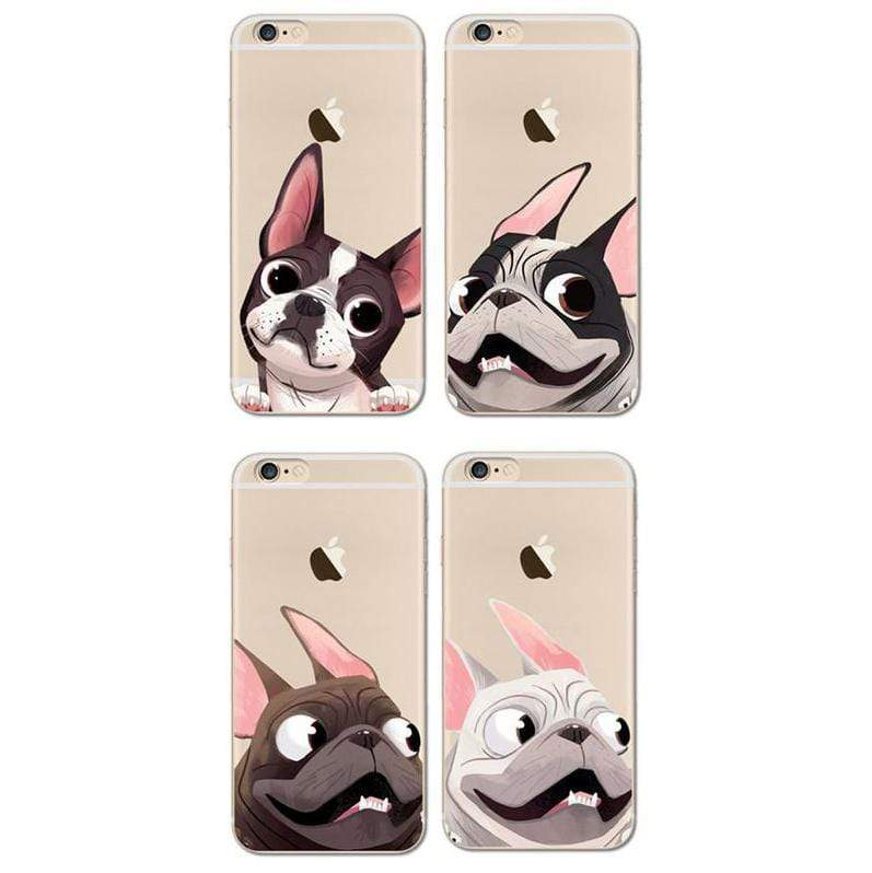 Frenchie World Shop Cute French Bulldog Soft Case For iPhone