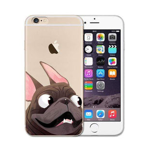 Frenchie World Shop 2 / For iPhone SE 5 5S Cute French Bulldog Soft Case For iPhone