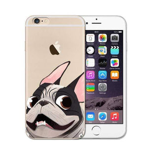 Frenchie World Shop 3 / For iPhone SE 5 5S Cute French Bulldog Soft Case For iPhone