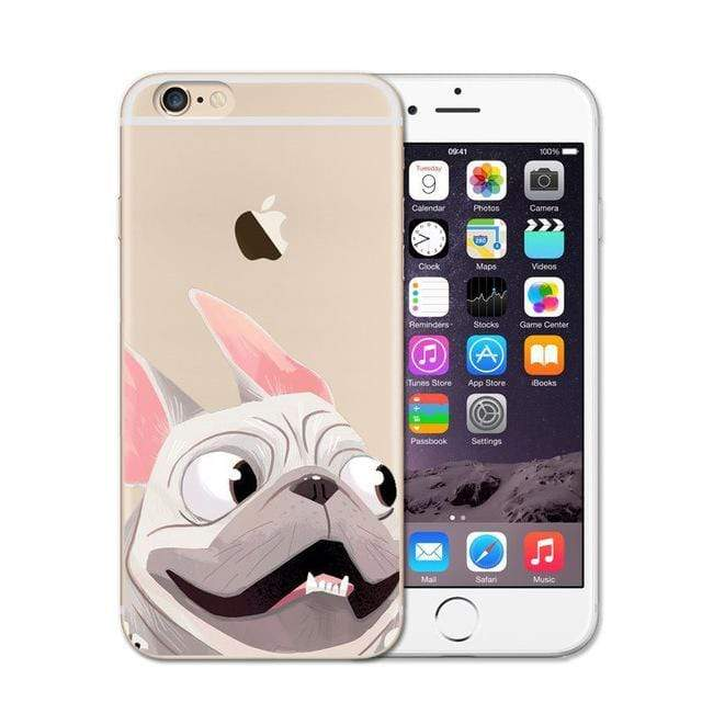 Frenchie World Shop 4 / For iPhone SE 5 5S Cute French Bulldog Soft Case For iPhone