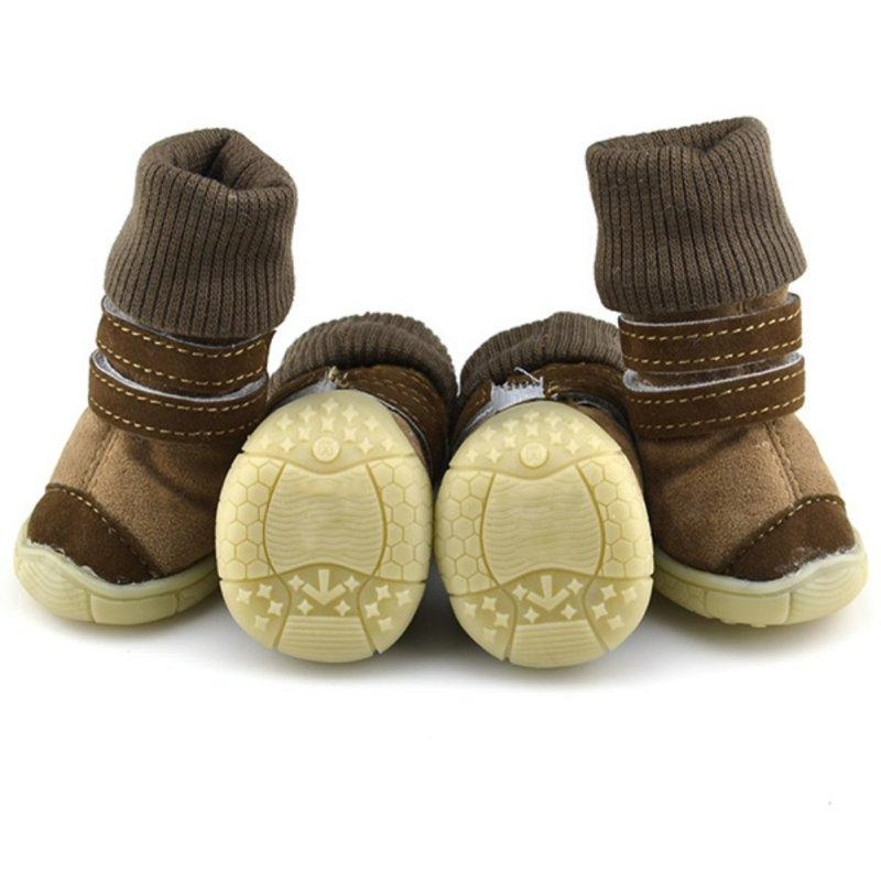 Frenchie World Shop Deer Leather Dog Snow Boots
