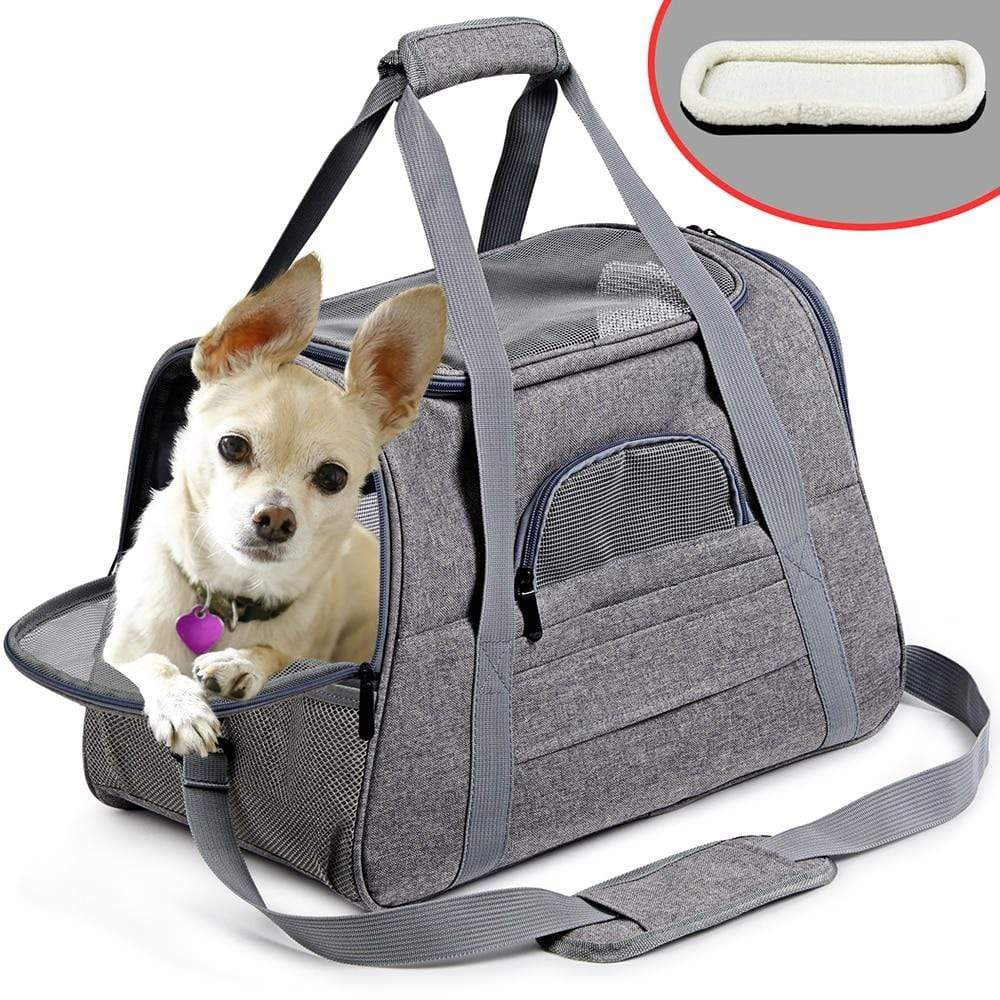 Frenchie World Shop Dog Carrier Portable Pet Backpack Messenger Cat Carrier Outgoing Small Dog Travel Bag Soft Side Breathable Pet Carrier For Cat