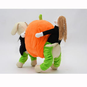 Frenchie World Shop Dog Carrying Pumpkin Costume