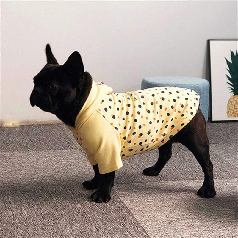 Frenchie World Shop Dotted Light French Bulldog Hoodie
