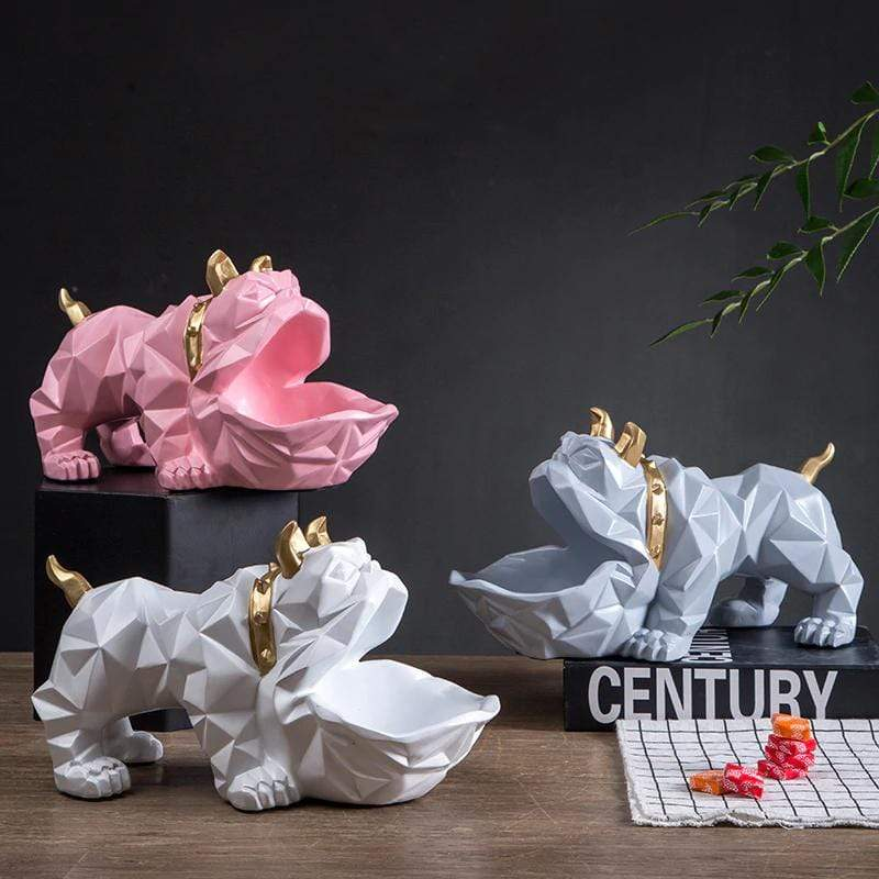 Frenchie World Shop English Bulldog Geometric Sculpture