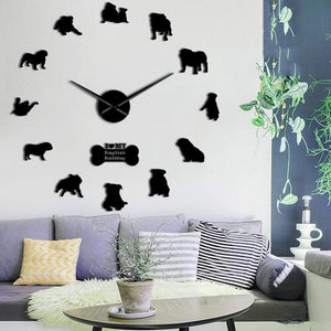 Frenchie World Shop English Bulldog Giant Wall Clock