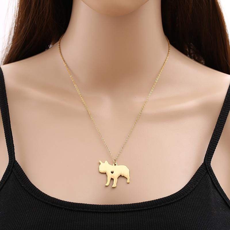 Frenchie World Shop Engrave G / 53cm Engraved French Bulldog Necklace with Pendant Charm