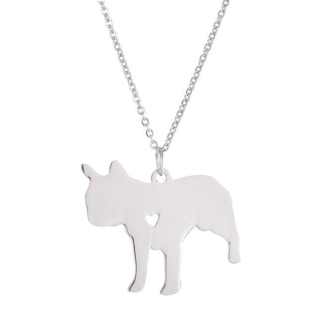 Frenchie World Shop Engrave S / 53cm Engraved French Bulldog Necklace with Pendant Charm