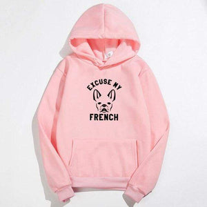 Frenchie World Shop pink / XXL Excuse My French Printed Hoodie