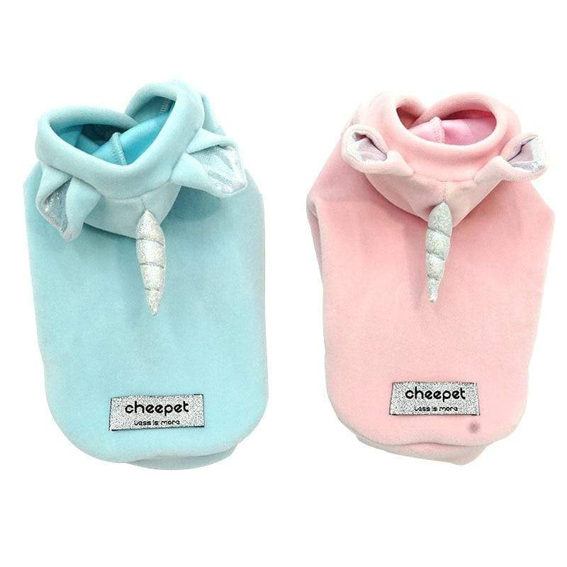 Frenchie World Shop Fall and Winter 2019 Newest Unicorn Design Pink Blue Colors S-xxl Sizes Warm Two Feet Pet Clothing Lovely Clothing for Small Dog