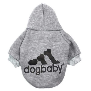 Frenchie World Shop Grey / L Fashion Dog Clothes For Small Dogs Cats Puppy Hoodies Warm Pet Clothing for Dog Coat Jacket Yorkies Chihuahua Clothes 12d30