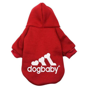 Frenchie World Shop Red / L Fashion Dog Clothes For Small Dogs Cats Puppy Hoodies Warm Pet Clothing for Dog Coat Jacket Yorkies Chihuahua Clothes 12d30