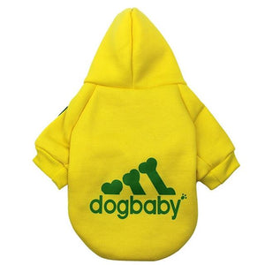 Frenchie World Shop Yellow / L Fashion Dog Clothes For Small Dogs Cats Puppy Hoodies Warm Pet Clothing for Dog Coat Jacket Yorkies Chihuahua Clothes 12d30