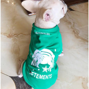 Frenchie World Shop green / S Fashion Pet Dog Clothes Dog Hooded Sweatshirt Leisure Type For French Bulldog Pug Schnauzer Cotton Dog Hoodie