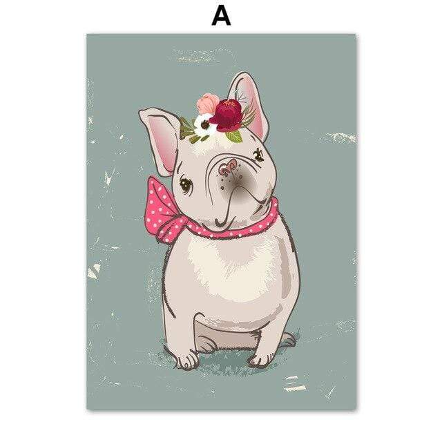 Frenchie World Shop 60X80 cm Unframed / A French Bulldog Art Canvas