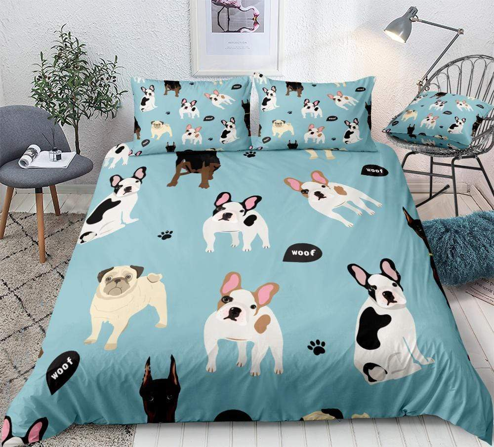 Frenchie World Shop French Bulldog Bedding Duvet Cover Set