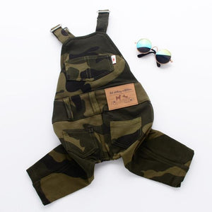 Frenchie World Shop Camouflage / XL French Bulldog Camouflage Jumpsuit