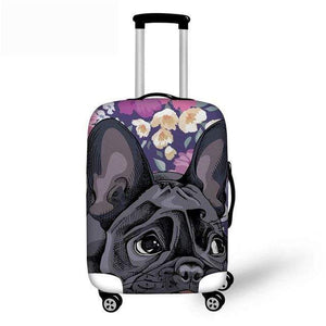 Frenchie World Shop YQ640 / S French Bulldog Luggage Protective Cover