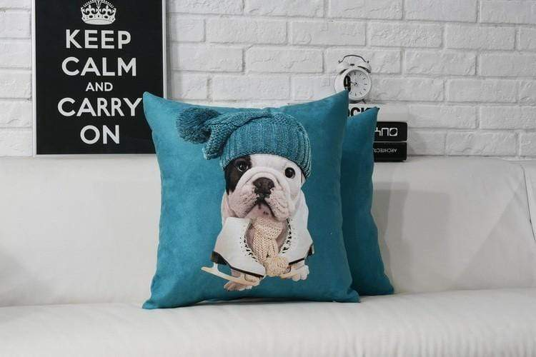 Frenchie World Shop French Bulldog Plush Pillow Cover