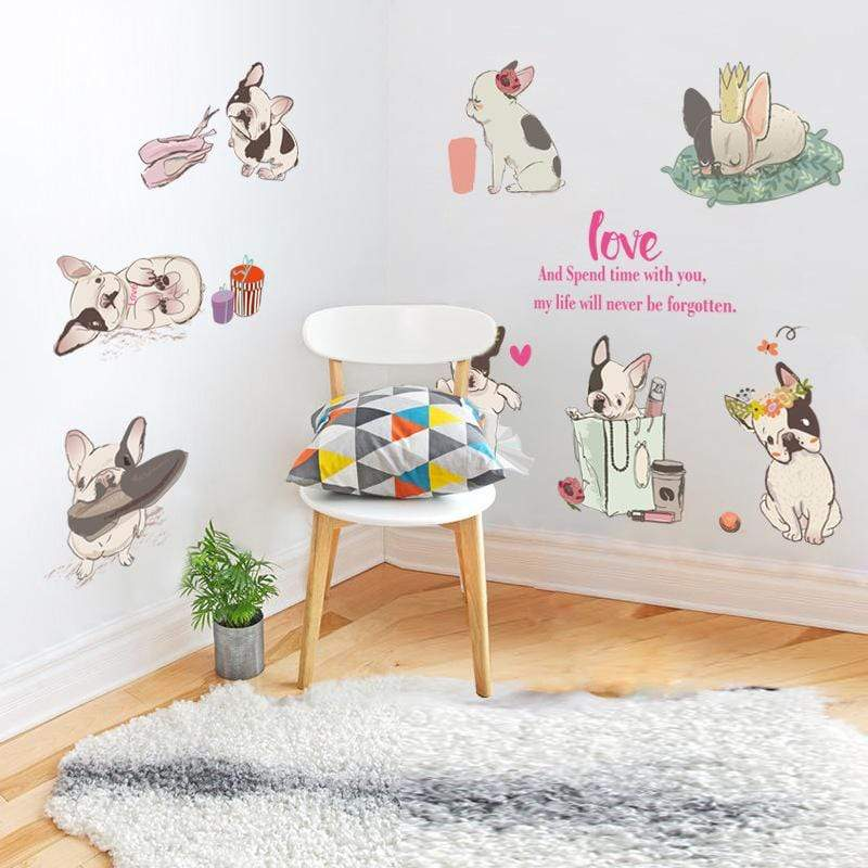 Frenchie World Shop Human accessories French bulldog Wall Stickers