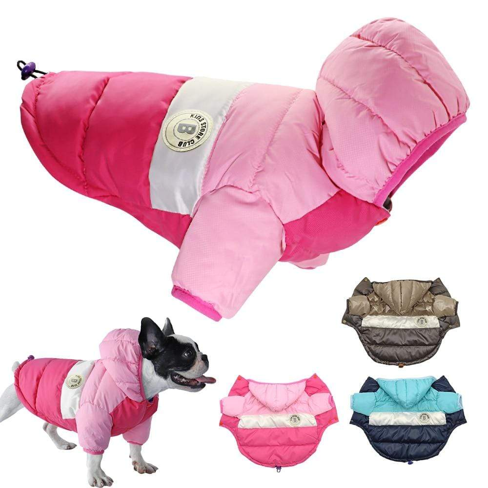 Frenchie World Shop Dog Clothing French Bulldog Waterproof Down Jacket