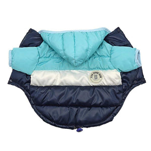 Frenchie World Shop Dog Clothing Blue / 16 French Bulldog Waterproof Down Jacket