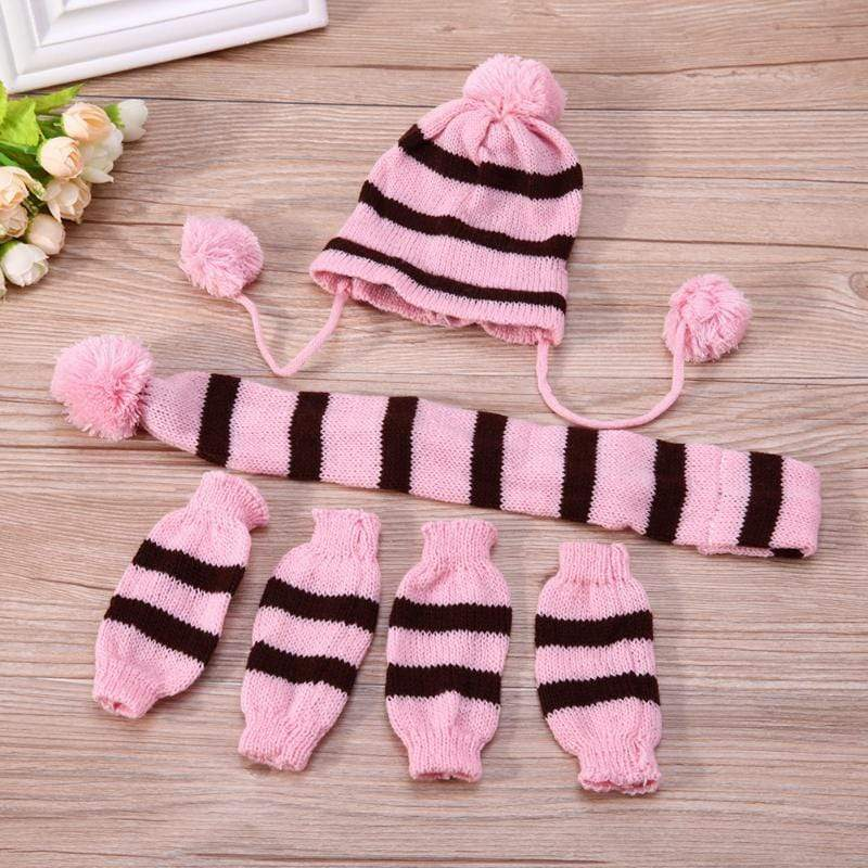 Frenchie World Shop French Bulldog Woolen Knitted Hat, Scarf and Leg Warmer Set