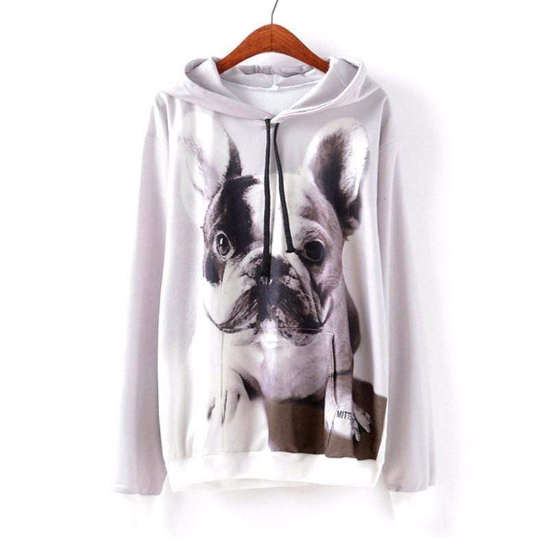 "Frenchie World Shop Human clothing G658 Dog / S / China ""French Moustache"" Spring hoodie"