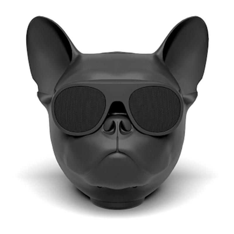 Frenchie World Shop Black Frenchie Bluetooth Speaker