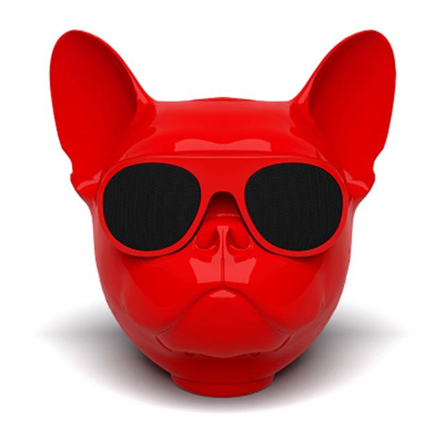 Frenchie World Shop Red Frenchie Bluetooth Speaker